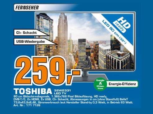 Toshiba 32W2331DG ©Saturn