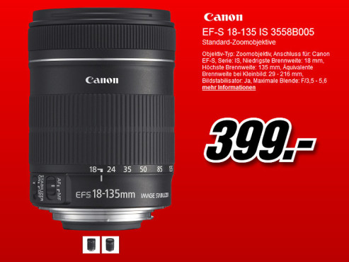 Canon EF-S 18-135mm f3.5-5.6 IS STM © Media Markt