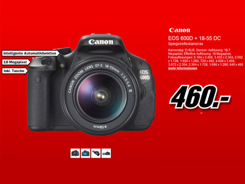 Canon EOS 600D Kit 18-55 mm [Canon DC III] © Media Markt