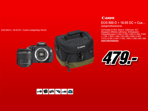 Canon EOS 600D Kit 18-55 mm [Canon IS II] © Media Markt