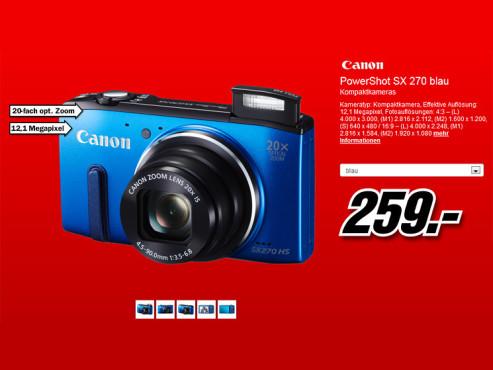 Canon PowerShot SX270 HS ©Media Markt
