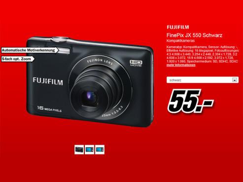 Fujifilm FinePix JX550 ©Media Markt