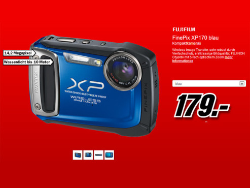 Fujifilm FinePix XP170 © Media Markt