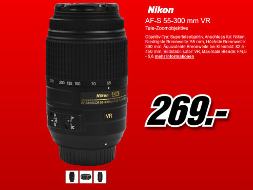 Nikon AF-S DX Nikkor 55-300mm f4.5-5.6 G ED VR © Media Markt