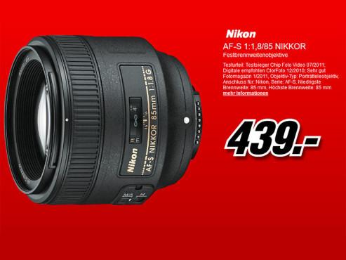 Nikon AF-S Nikkor 85mm f1.8 G ©Media Markt