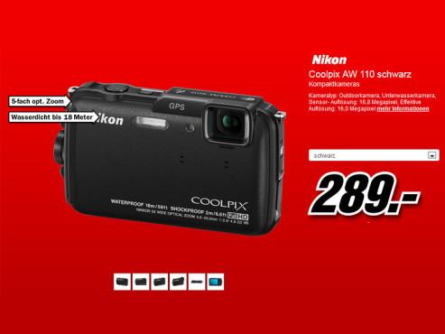 Nikon Coolpix AW110 ©Media Markt