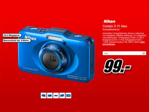 Nikon Coolpix S31 ©Media Markt