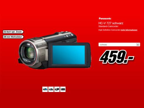 Panasonic HC-V727 ©Media Markt