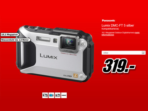 Panasonic Lumix DMC-FT5 © Media Markt
