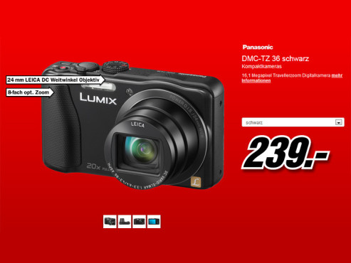 Panasonic Lumix DMC-TZ36 © Media Markt