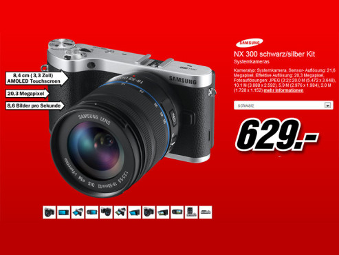 Samsung NX300 Kit 18-55 mm [OIS II] © Media Markt