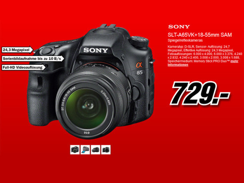 Sony Alpha 65 Kit 18-55 mm (SLT-A65VK) © Media Markt