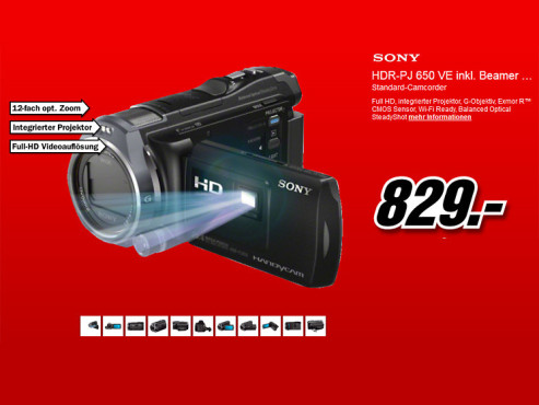 Sony HDR-PJ650VE © Media Markt