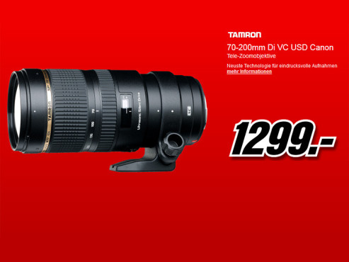 Tamron SP 70-200mm f2.8 Di VC USD [Canon] © Media Markt