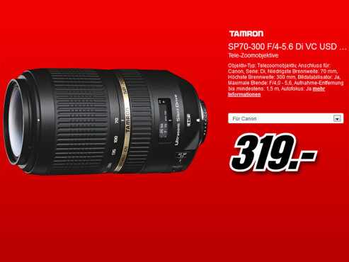 Tamron SP AF 70-300mm f4.0-5.6 Di VC USD © Media Markt