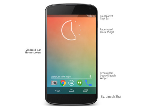 Android 5.0 Design-Entwurf © Jinesh Shah