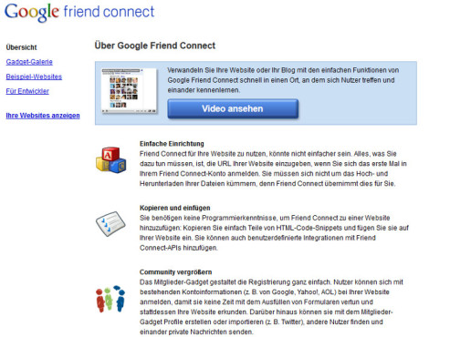 Google Friend Connect (*2008 - †2012) © Google