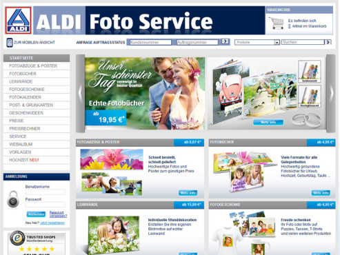 Screenshot www.aldifoto.de ©Aldi Nord