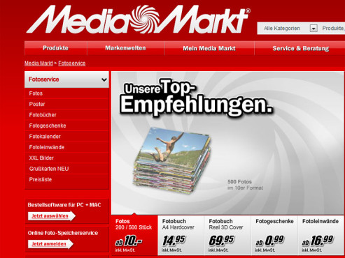 Screenshot www.mediamarkt.de © Media Markt