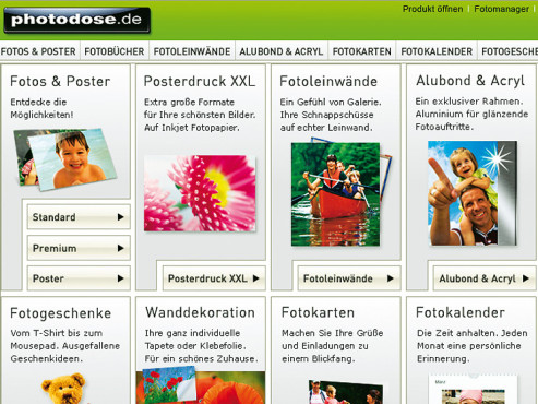 Screenshot www.photodose.de © Photo dose