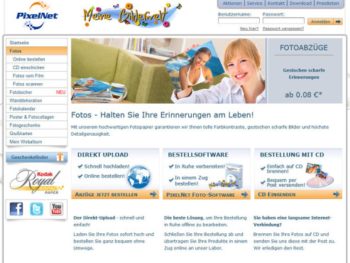 Screenshot www.pixelnet.de ©Pixelnet