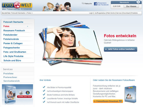 Screenshot www.rossmann.de ©Rossmann