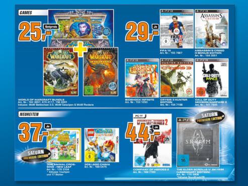 Diverse Videospiele ©Saturn