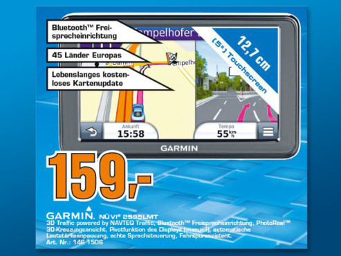 Garmin nüvi 2595LMT Europe © Saturn