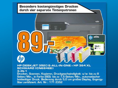 Hewlett-Packard HP Deskjet 3520 e-All-in-One © Saturn