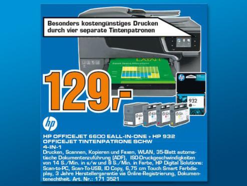 Hewlett-Packard HP Officejet 6600 + zusätzliche Tintenpatrone ©Saturn