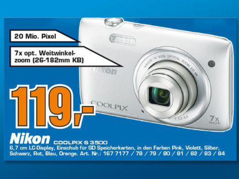 Nikon Coolpix S3500 © Saturn
