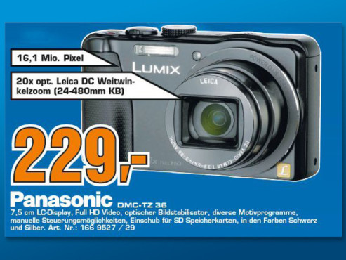 Panasonic Lumix DMC-TZ36 © Saturn