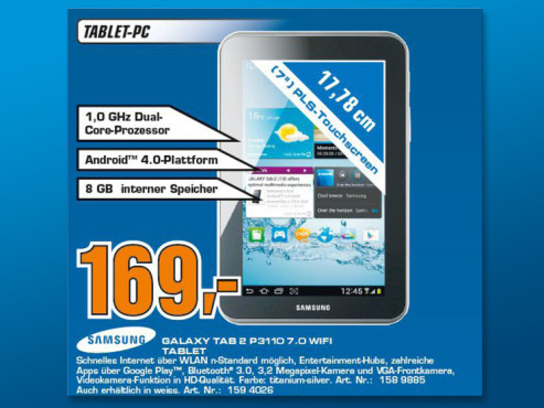 Samsung Galaxy Tab 2 (7.0) 8GB ©Saturn