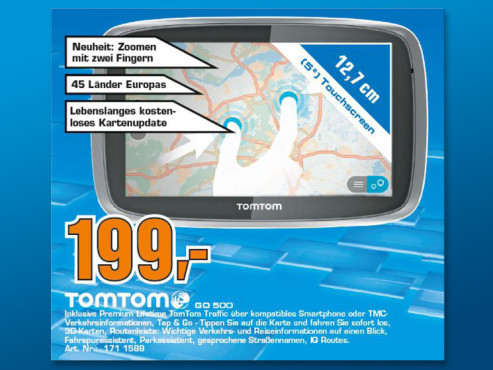 TomTom GO 500 EU 45 T ©Saturn