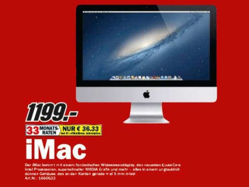Apple iMac (21,5-Zoll-Modell) © Media Markt
