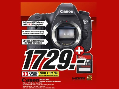 Canon EOS 6D Body © Media Markt