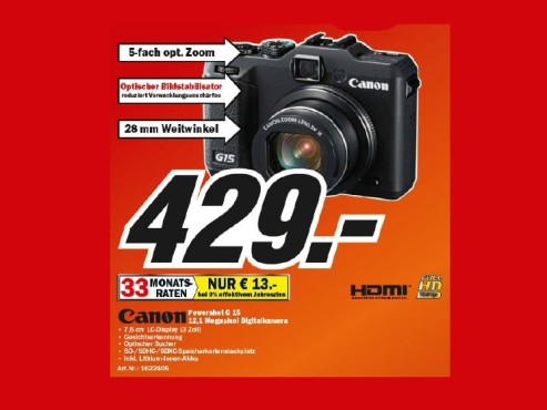 Canon PowerShot G15 © Media Markt