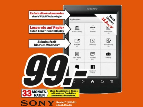 Sony Reader PRS-T2 © Media Markt