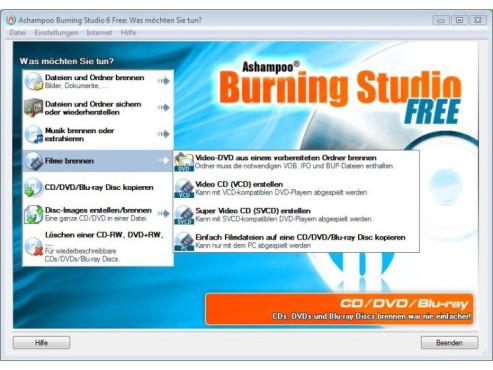 Ashampoo Burning Studio 6 Free ©COMPUTER BILD