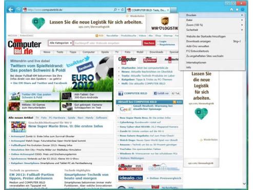 Internet Explorer 10 ©COMPUTER BILD