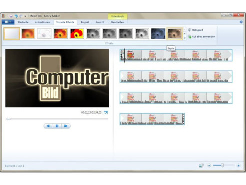 Windows Movie Maker © COMPUTER BILD