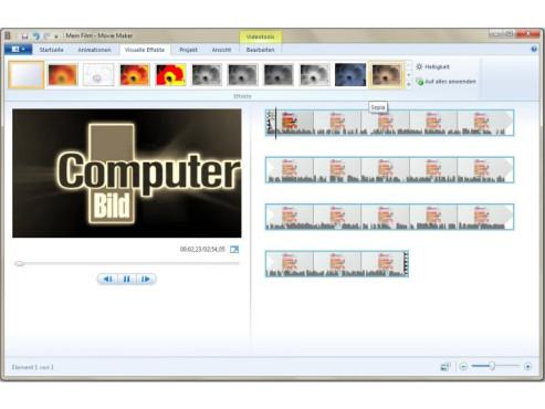 Windows Movie Maker ©COMPUTER BILD