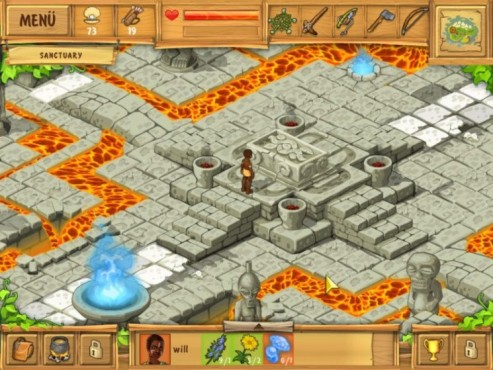 Screenshot Minigame The Island – Castaway 2 © Intenium