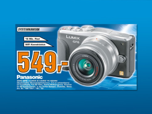 Panasonic Lumix DMC-GF6 Kit 14-42 mm (DMC-GF6K) © Saturn