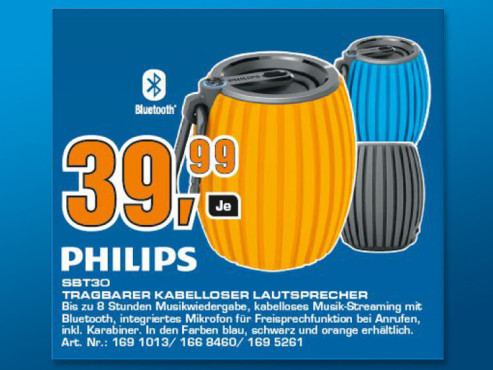 Philips SoundShooter SBT30 © Saturn