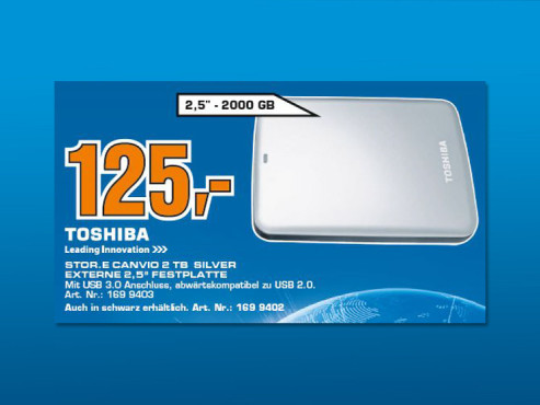 Toshiba StorE Canvio 2TB ©Saturn