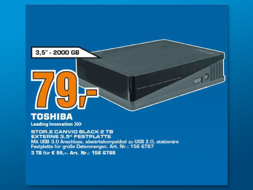 Toshiba StorE Canvio Desktop 2TB © Saturn