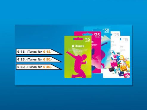 iTunes-Geschenkekarten ©Saturn