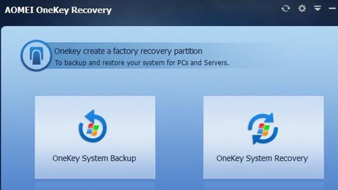 Aomei OneKey Recovery: System komplett sichern ©COMPUTER BILD