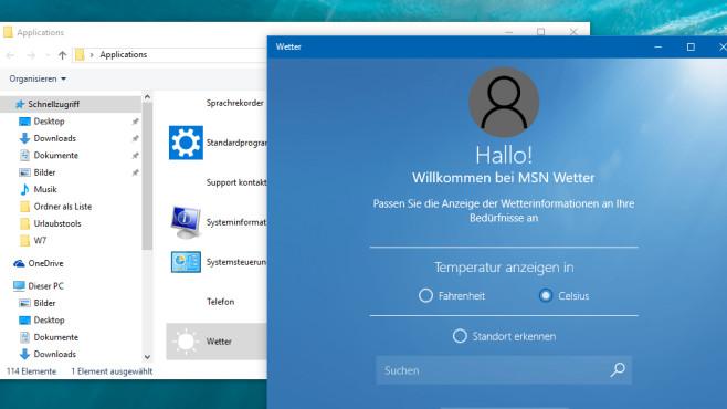 COMPUTER BILD-App-Starter: Wetter-App vom Desktop nutzen ©COMPUTER BILD